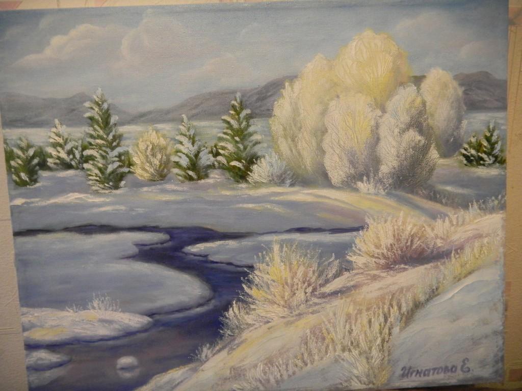 Зимний пейзаж Игнатова Елена